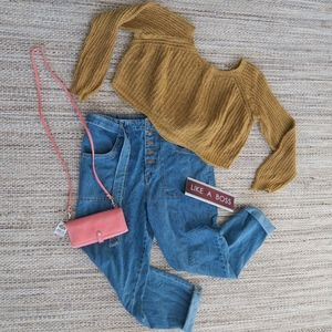 Forever 21 High Waisted Mom Jeans with Denim Belt